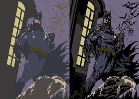 Batman by Renato Camilo, Inks and Flats by AC. by CB-ComicArt