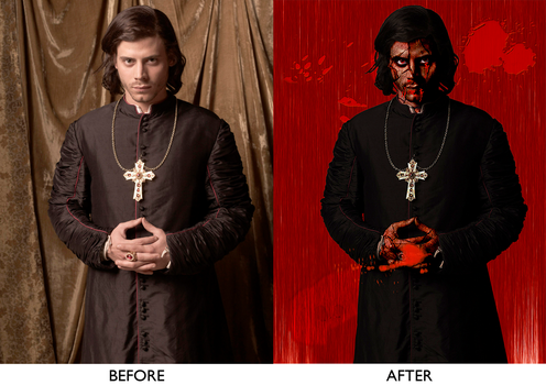 Cesare Borgia before and after by artistiyonna