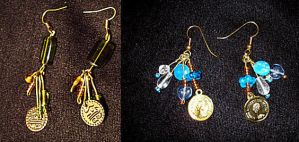 Two pairs of earrings by NoctiLuna