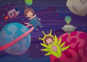 Playing into the Space by Jbrizzi
