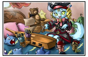 Pirate Kitten by bittenhard