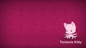 Tentacle Kitty Desktop Background by TentacleKitty