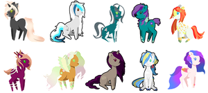Pony Sticker Collection 1 by TanukiAdopts
