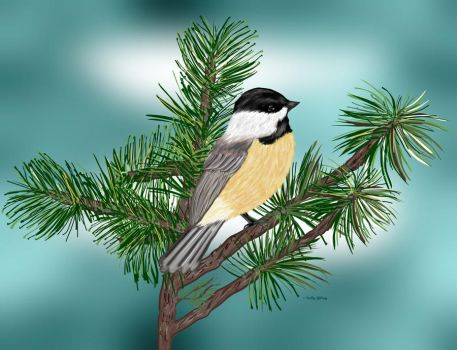Cheerful Chicadee by sallygilroy