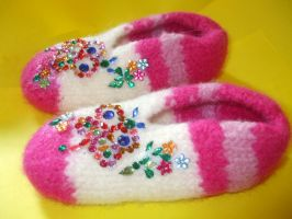 Slippers for the little princess! by mockingbirdontree