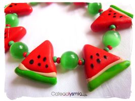 Watermelon Bracelet by Cateaclysmic