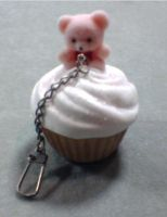 Beary Sweet Cupcake Key Chain by SweetSugaRush
