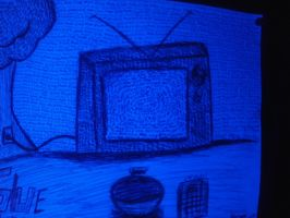 Glowing tv by MatchCense