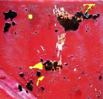 Red with rust and yellow bits by mercurycode