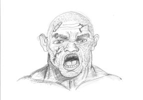 Angry man sketch by maxspider