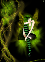 A Green Fairy by Pypmannetjies