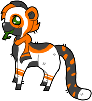 Panda Tiger. Offer to Adopt CLOSED by Meow-Adoptsies