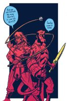 Simon Belmont and hellboy by dio-03