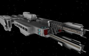 HALO 2 UNSC Frigate WIP 6 by korblborp