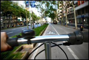 daily ride in barcelona by santiago-simple