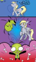 Derpy and Gir Adventures Pg.1 by MidnyghtDew