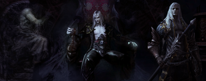 Castlevania: Lords Of Shadow 2 .- ALUCARD and Drac by RenRenLotus