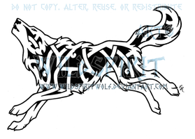 Running Knotwork Wolf by WildSpiritWolf