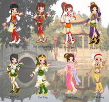 Dynasty Warriors Girls by cutepiku