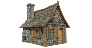 Medieval Hut A-3, PNG by fumar-porros
