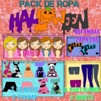 Pack de Ropa: HALLOWEEN by YessicaDamaris