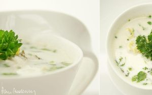 chicken-coconut-lemon soup. by anay