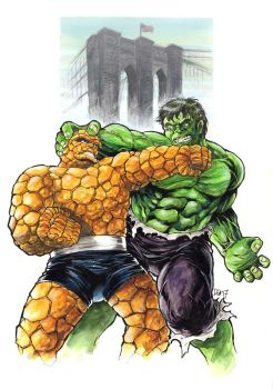 Classic HULK vs THING by donnyg4