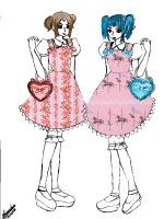 Twin lolita with prints by Prinzessinumi