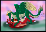 -PC- Dragon Make out by wolfcub