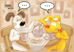Gromit and Brain Tea Time by CookingPeach