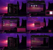 windows 7 theme pink glass by tono3022