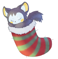 Emolga - Pokemon Christmas gift by Luunan