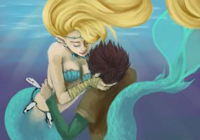 Underwater Romance - Speedpaint by fUnKyToEs