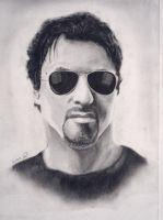 Sylvester Stallone Portrait by lPinhead