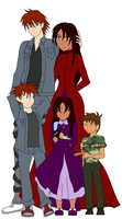 Seal, Chrono, Justin, Tilly WIP2 by ToAtoneArt