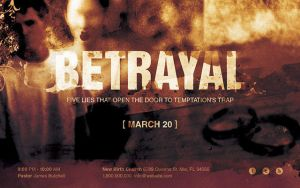 Betrayal Church Flyer Template by loswl