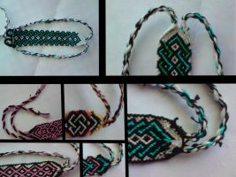 friendship bracelet tutorial 3 by bebe1221