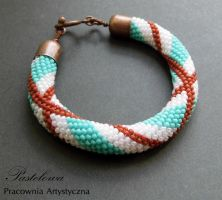 Turquoise pink and chocolate by Pastely