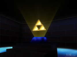 Zelda 64 beta Triforce by BLUEamnesiac
