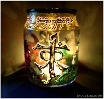 J.R.R Tolkien Monogram Candle Holder by Bonniemarie