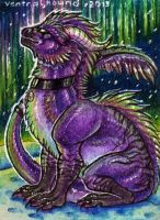 ACEO trade: Kyuubreon by VentralHound