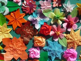Origami Flowers by LedgerTakahashiX
