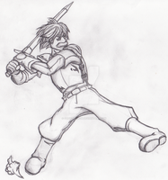 Foot Soldier Sketch by Cody-Church