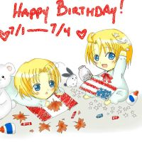 America and Canada- Birthday! by Kurimu-chan