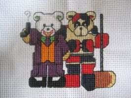 Cross Stitch Joker and Harley Quinn by LeeAlexis
