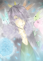 Garry loves Rabbit. by Alychia-tan