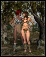 Amy & Robyn - Cave Girls by celticarchie