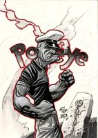 Popeye the Sailor Man by SpineBender