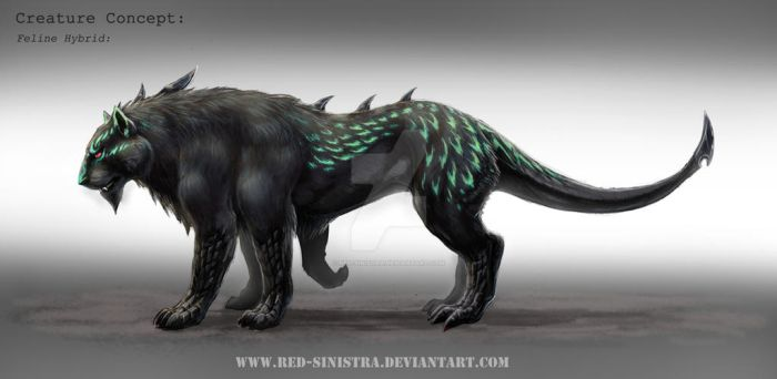 Creature Design: Feline Hybrid by Red-Sinistra