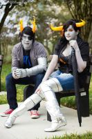 Gender Bent Vriska and Tavros by Ceciliabot